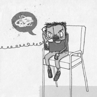 Freelance Illustration 2 of 2 • Complaining Man illustration