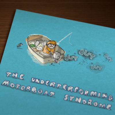 Freelance Illustration 1 of 2 • Underperforming Motorboat Syndrome illustration