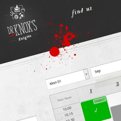 Freelance Web Design 2 of 3 • Dr Knox's Enigma website