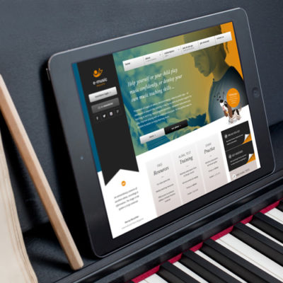 Freelance Web Design 1 of 3 • E-Music Maestro website