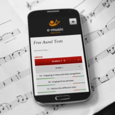 Freelance Web Design 3 of 3 • E-Music Maestro website