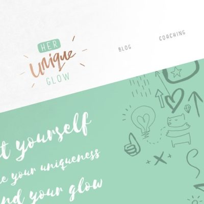 Freelance Web Design 2 of 3 • Her Unique Glow website