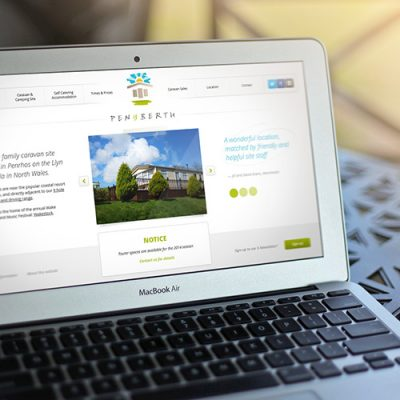 Freelance Web Design 1 of 3 • Pen y Berth and Llyn Golf website