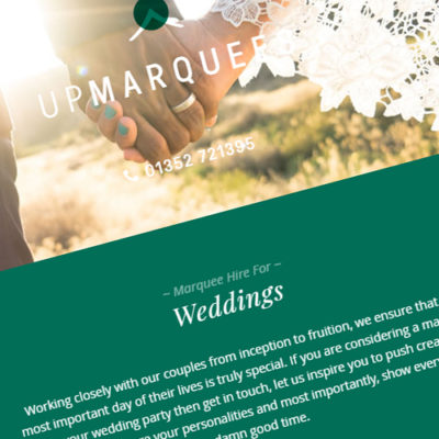 Freelance Web Design 2 of 3 • Up Marquees website
