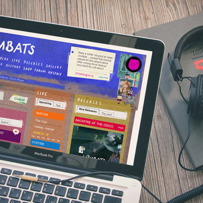Freelance Web Design 1 of 3 • The Wombats website
