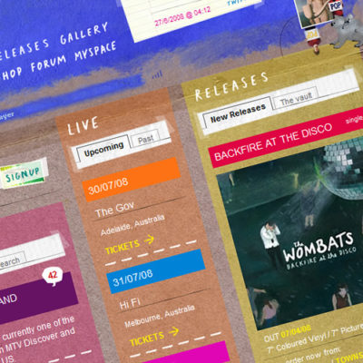 Freelance Web Design 2 of 3 • The Wombats website